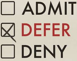 How To Defer Admission